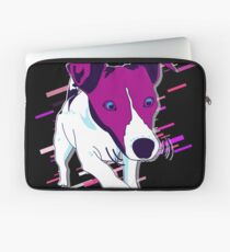 Dog funny Eighties Retro Violet and Purple Laptop Sleeve