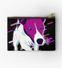 Dog funny Eighties Retro Violet and Purple Studio Pouch