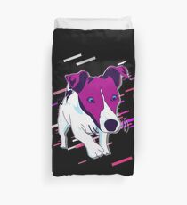 Dog funny Eighties Retro Violet and Purple Duvet Cover