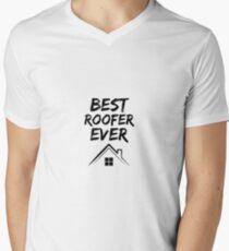 Roofer Best Ever Funny Gift Idea Men's V-Neck T-Shirt