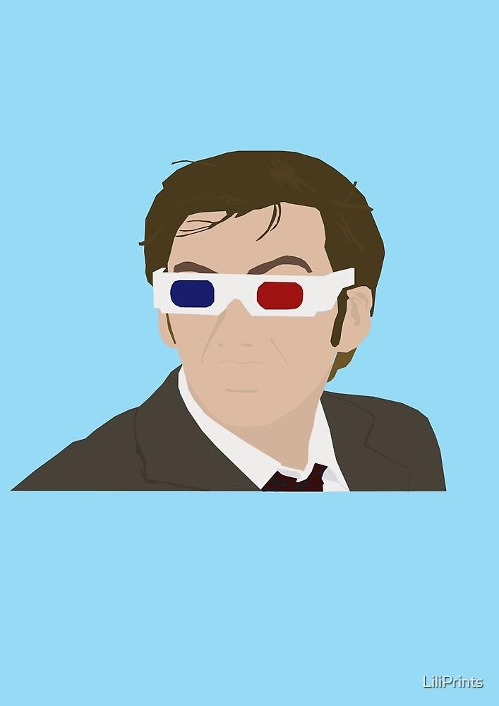 David Tennant 3D Glasses rotoscope by LiliPrints