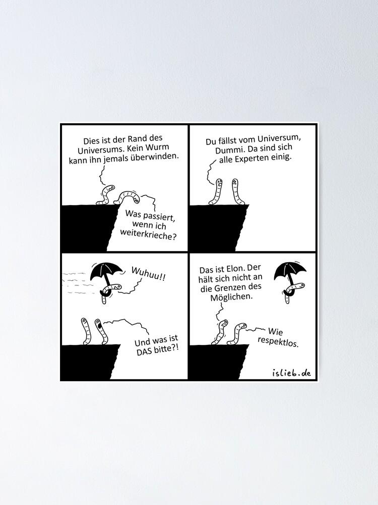 Alternative Ansicht von Rand des Universums islieb Comics Poster