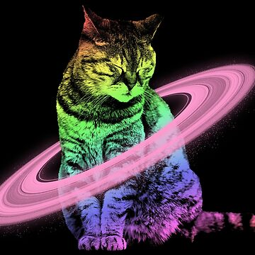 Space Galaxy Cat Caturn Tee - Funny Kittens Lover Gifts by proeinstein