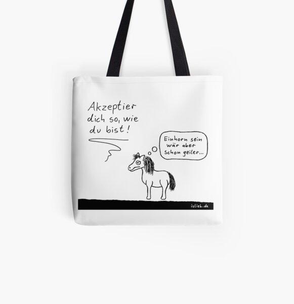 Akzeptanz islieb Cartoon Allover-Print Tote Bag