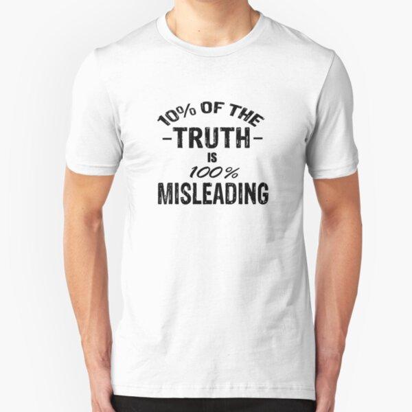 10% Truth tees-black logo Slim Fit T-Shirt
