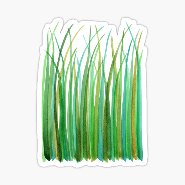 Green Grasses Sticker