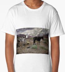 Ghost Horses on a High Plain Original Long T-Shirt