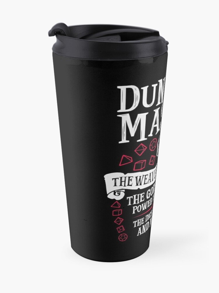 Alternate view of Dungeon Master, The Weaver of Lore & Fate - Dungeons & Dragons (White Text) Travel Mug
