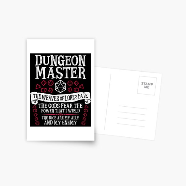 Dungeon Master, The Weaver of Lore & Fate - Dungeons & Dragons (White Text) Postcard