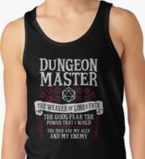 Dungeon Master, The Weaver of Lore & Fate - Dungeons & Dragons (White Text) Tank Top