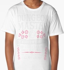 Dungeon Master, The Weaver of Lore & Fate - Dungeons & Dragons (White Text) Long T-Shirt