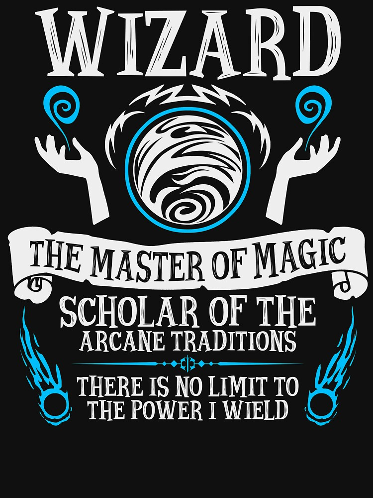 WIZARD, The Master of Magic - Dungeons & Dragons (White Text) by enduratrum
