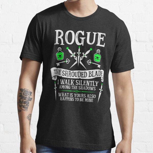 ROGUE, LA LAME ENROULÉE - Donjons & Dragons (Texte Blanc) T-shirt essentiel