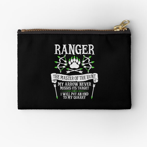 RANGER, The Master of the Hunt - Dungeons & Dragons (White Text) Zipper Pouch