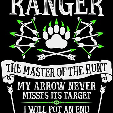 RANGER, The Master of the Hunt - Dungeons & Dragons (White Text) by enduratrum