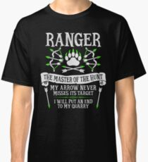 RANGER, The Master of the Hunt - Dungeons & Dragons (White Text) Classic T-Shirt