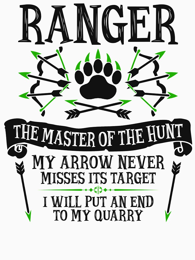 RANGER, The Master of the Hunt - Dungeons & Dragons (Black Text) by enduratrum
