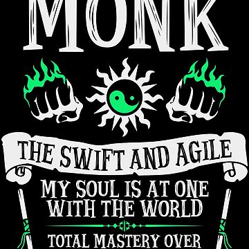 MONK, THE SWIFT AND AGILE - Dungeons & Dragons (White) by enduratrum