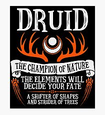 DRUID, THE CHAMPION OF NATURE - Dungeons & Dragons (Black) Photographic Print