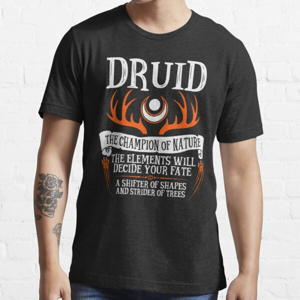 DRUID, THE CHAMPION OF NATURE - Dungeons & Dragons (Black) Essential T-Shirt