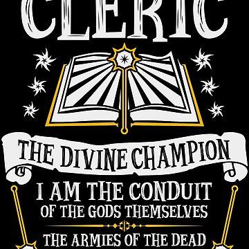 CLERIC, EL DIVINO CAMPEÓN - Dungeons & Dragons (Negro) de enduratrum