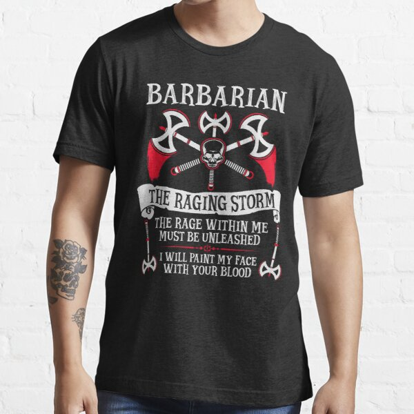 BARBARIAN, THE RAGING STORM - Dungeons & Dragons (White) Essential T-Shirt