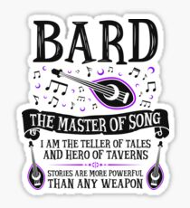 BARD, THE MASTER OF SONG - Dungeons & Dragons (Black) Sticker