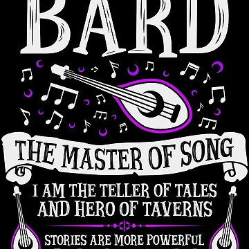 BARD, THE MASTER OF SONG - Dungeons & Dragons (White) by enduratrum