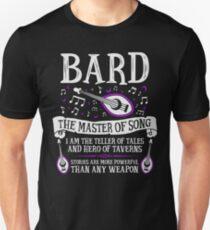 Camiseta ajustada BARD, EL MAESTRO DE LA CANCIÓN - Dungeons & Dragons (Blanco)