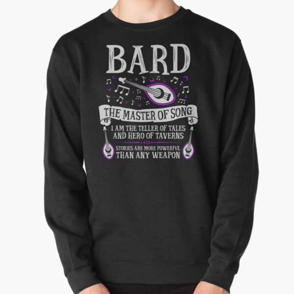 BARD, THE MASTER OF SONG - Dungeons & Dragons (White) Pullover Sweatshirt