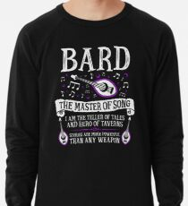 BARD, THE MASTER OF SONG - Dungeons & Dragons (White) Lightweight Sweatshirt