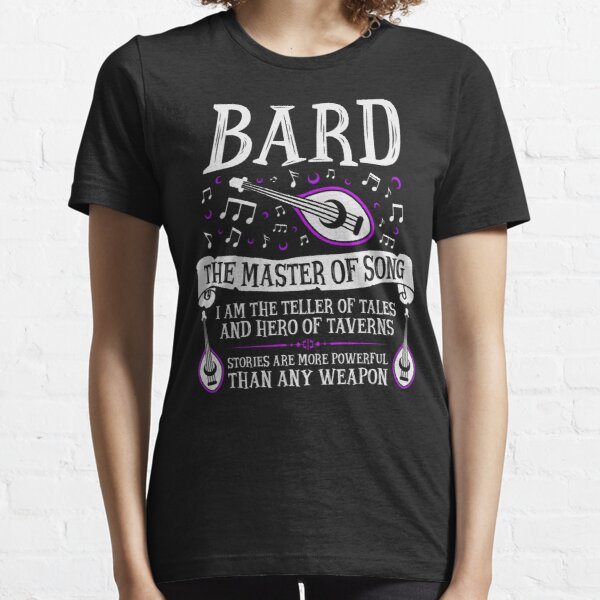 BARD, THE MASTER OF SONG - Dungeons & Dragons (White) Essential T-Shirt