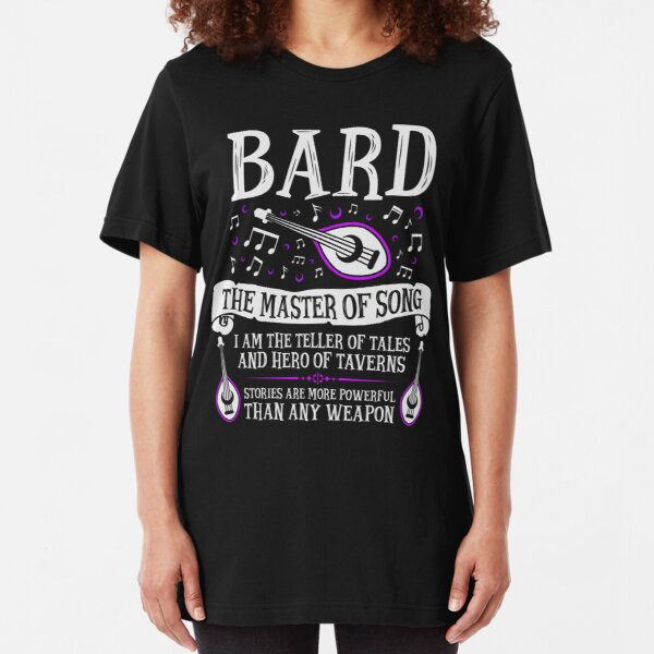 BARD, THE MASTER OF SONG - Dungeons & Dragons (White) Slim Fit T-Shirt