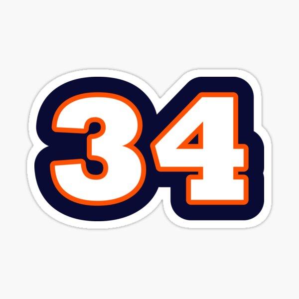 "#34 -- Walter ""Sweetness"" Payton Sticker"