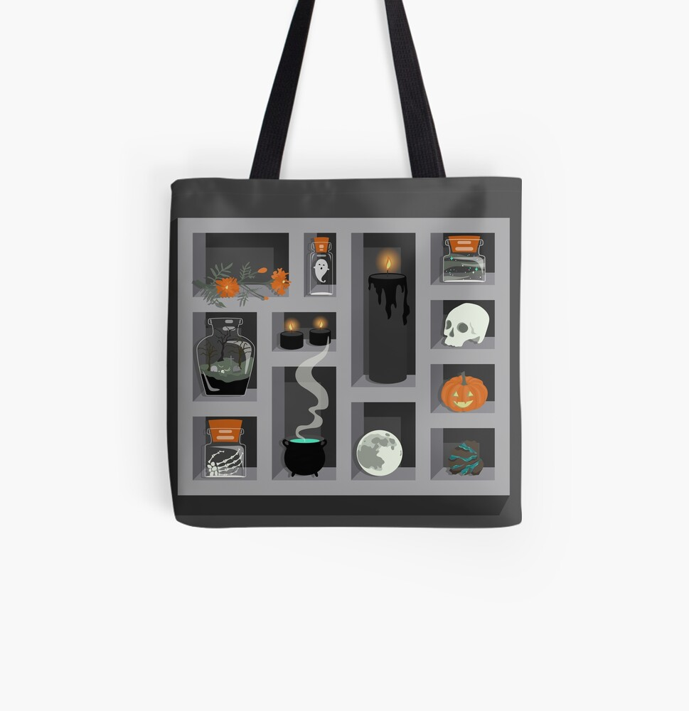 October Collection All Over Print Tote Bag