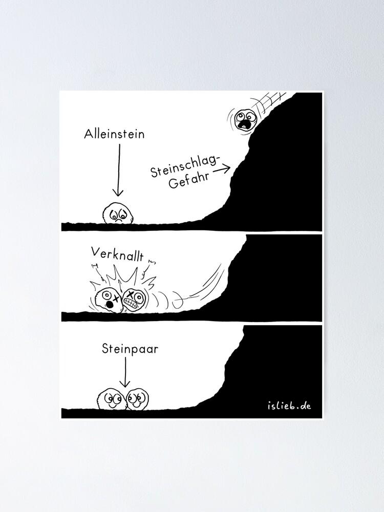 Alternative Ansicht von Steinstory islieb Comics Poster
