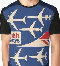 British Airways fleet Vintage UK Graphic T-Shirt