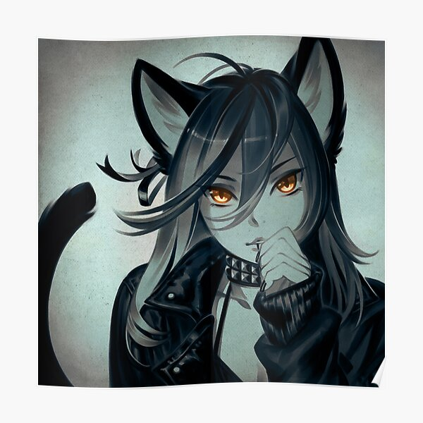 Leather Cat Poster