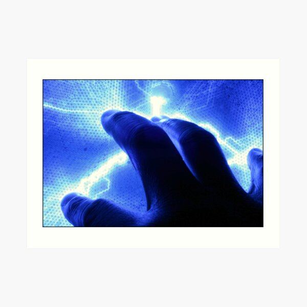 A Touch of Electric Blue Art Print