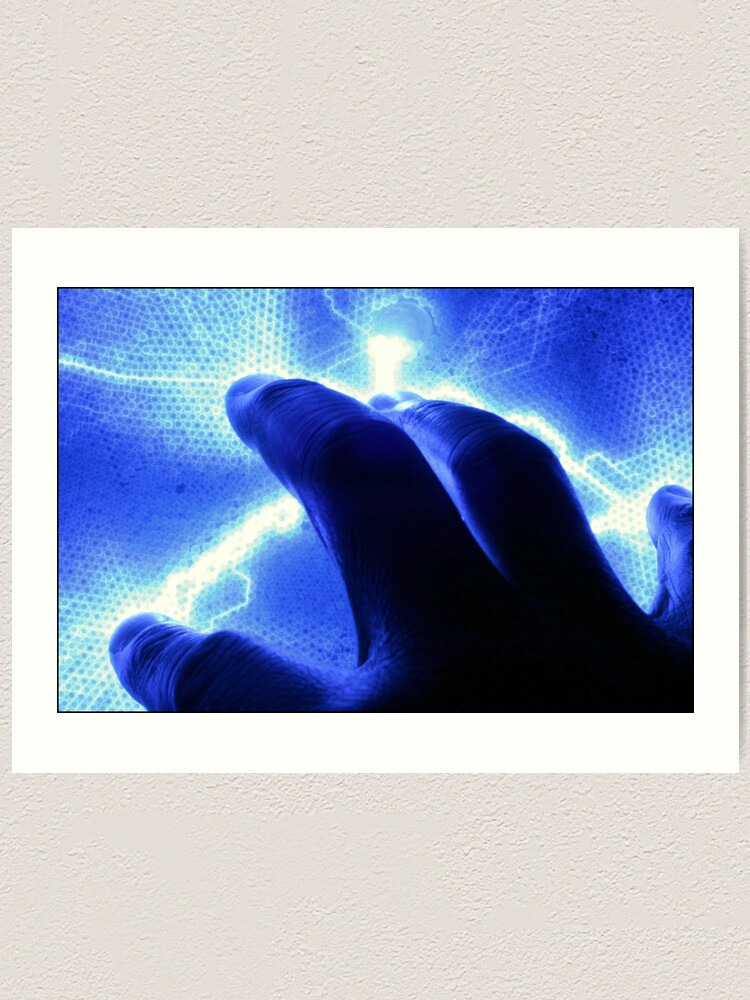 Alternate view of A Touch of Electric Blue Art Print