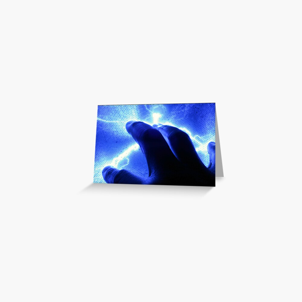 A Touch of Electric Blue Greeting Card