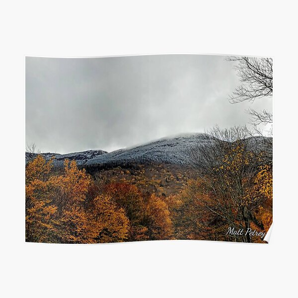 first snow on the mountain Poster