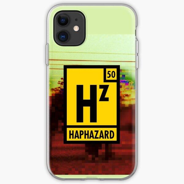 Haphazard Logo 1 with pixelated background iPhone Soft Case