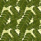 Single Leaf on Cream by henryflorence