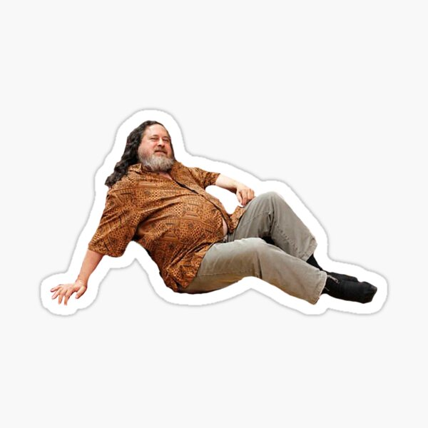 Richard Stallman Laying Sticker