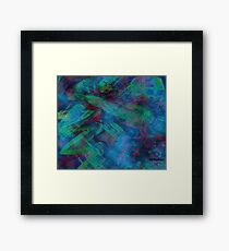 Greens and Blues Abstract pattern  Framed Print