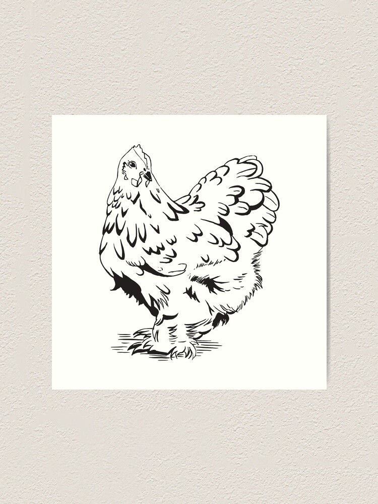 "Alternate view of Inktober - Day 5 - ""Chicken"" Art Print"