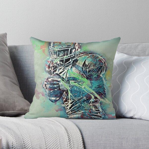 American Football Player Throw Pillow