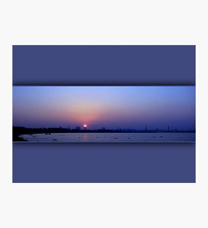 The last October sunset  Photographic Print