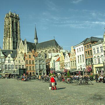 Mechelen Grote Markt by hawkie